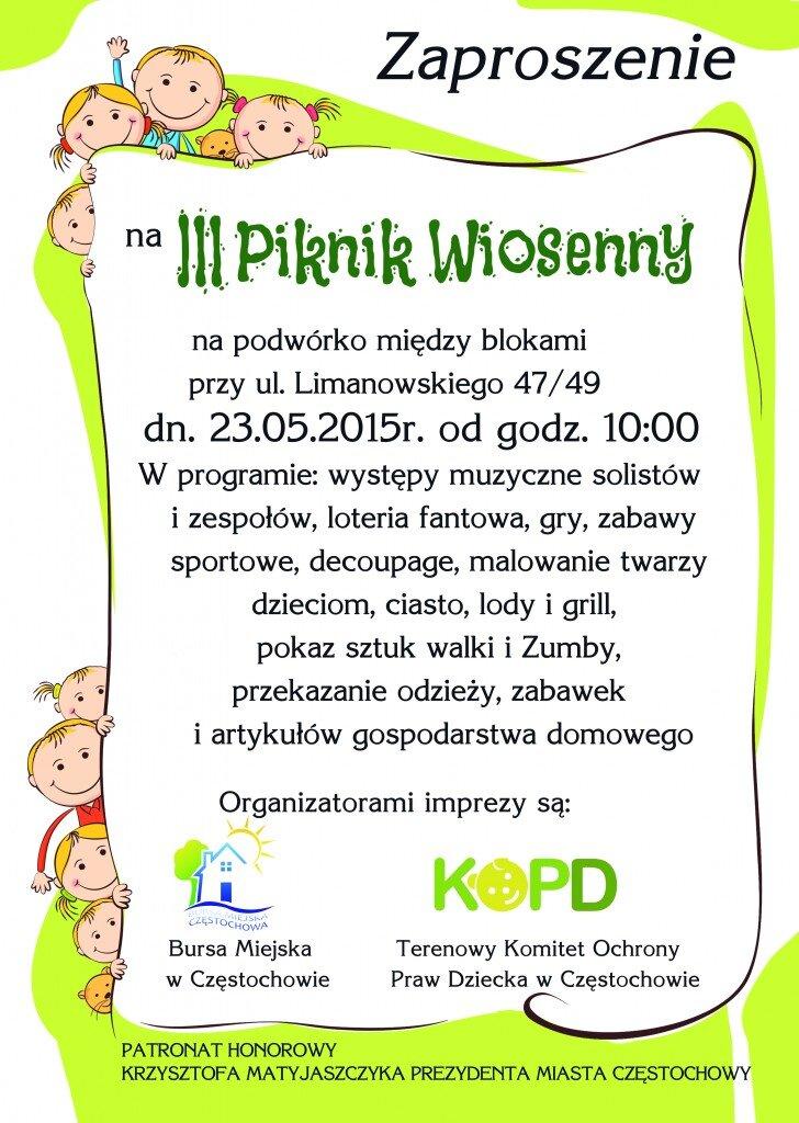 Zaproszenie - Media Piknik 2015